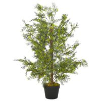 "vidaXL Artificial Plant Cypress Tree with Pot Green 35.4"""