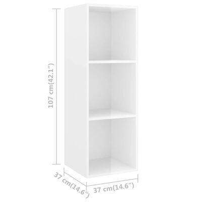 vidaXL 3 Piece TV Cabinet Set High Gloss White Chipboard