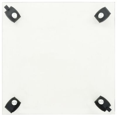 "vidaXL Plant Rollers 2 pcs Tempered Glass 13.8"" x 13.8"" Square"