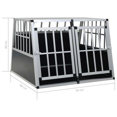 """vidaXL Dog Cage with Double Door 37""""x34.6""""x27.2"""""""
