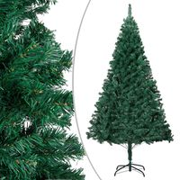 """vidaXL Artificial Christmas Tree with Thick Branches Green 94.5"""" PVC"""
