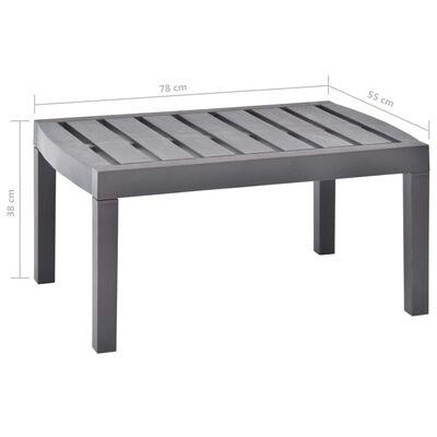 "vidaXL Lounge Table Mocha 30.7""x21.7""x15"" Plastic"