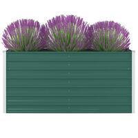 "vidaXL Raised Garden Bed 63""x31.5""x30.3"" Galvanized Steel Green"