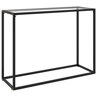 """vidaXL Console Table Transparent 39.4""""x13.8""""x29.5"""" Tempered Glass"""