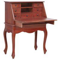 "vidaXL Secretary Desk Brown 30.7""x16.5""x40.6"" Solid Mahogany Wood"