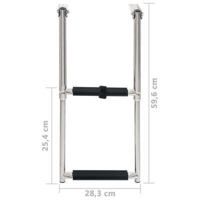 vidaXL Folding Boarding Ladder 2-step Stainless Steel