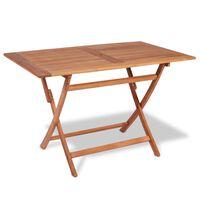 "vidaXL Folding Garden Table 47.2""x27.6""x29.5"" Solid Teak Wood"