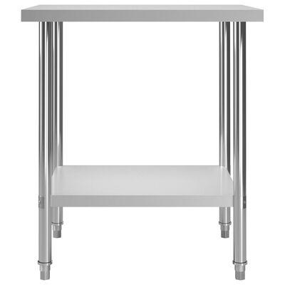 """vidaXL Kitchen Work Table 31.5""""x23.6""""x33.5 Stainless Steel"""