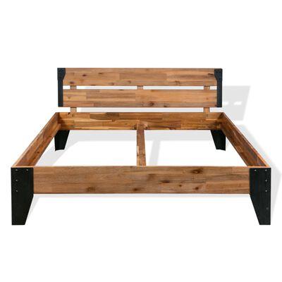 """vidaXL Bed Frame Solid Acacia Wood Steel 76""""x79.9"""""""
