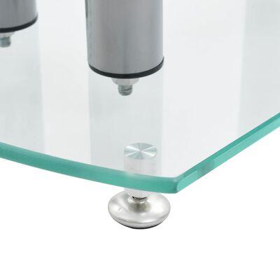 Aluminum Speaker Stands 2 pcs Transparent Safety Glass