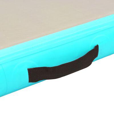 "vidaXL Inflatable Gymnastics Mat with Pump 275.6""x39.4""x3.9"" PVC Green"