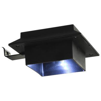 "vidaXL Outdoor Solar Lamps 6 pcs LED Square 4.7"" Black"