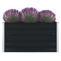 "vidaXL Raised Garden Bed 39.4""x39.4""x17.7"" Galvanised Steel Anthracite"