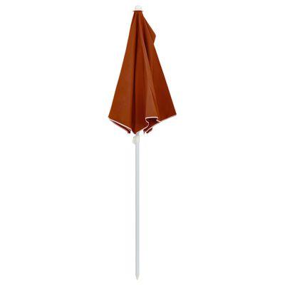 "vidaXL Garden Half Parasol with Pole 70.9""x35.4"" Terracotta"