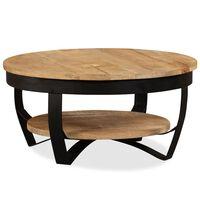 "vidaXL Coffee Table Solid Rough Mango Wood 25.6""x12.6"""