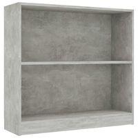 """vidaXL Bookshelf Concrete Gray 31.5""""x9.4""""x29.5"""" Chipboard"""