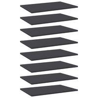 """vidaXL Bookshelf Boards 8 pcs Gray 23.6""""x15.7""""x0.6"""" Chipboard"""