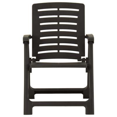 vidaXL Garden Chairs 4 pcs Plastic Anthracite
