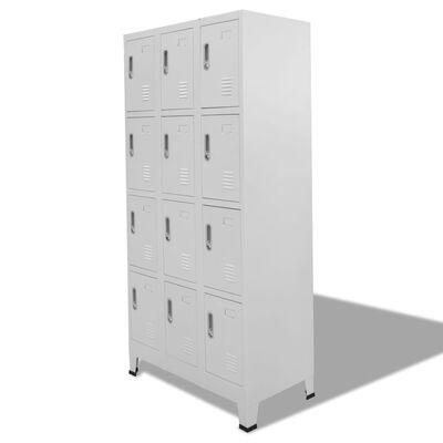 "vidaXL Locker Cabinet with 12 Compartments 35.4""x17.7""x70.9"""