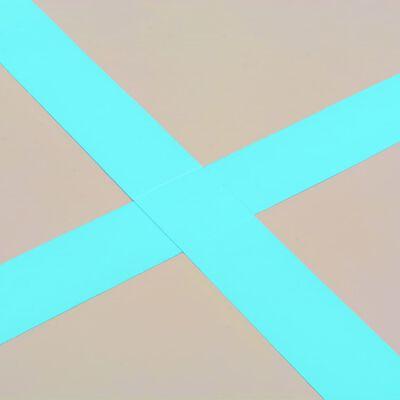 "vidaXL Inflatable Gymnastics Mat with Pump 196.8""x39.3""x3.9"" PVC Green"