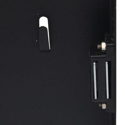"vidaXL Key Box with Magnetic Board Black 11.8""x7.9""x2.2"""