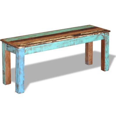 "vidaXL Bench Solid Reclaimed Wood 43.3""x13.8""x17.7"""