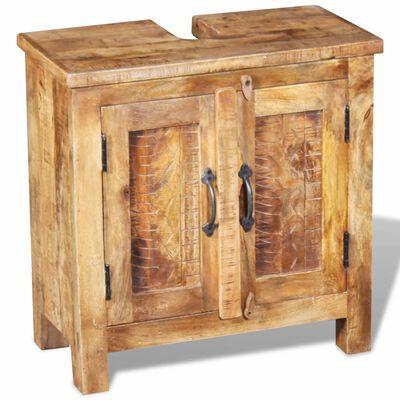 vidaXL Bathroom Vanity Cabinet with Mirror Solid Mango Wood