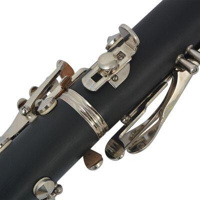 vidaXL Clarinet with Soft Case 17 Keys Bb