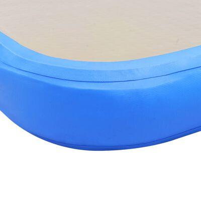 "vidaXL Inflatable Gymnastics Mat with Pump 236.2""x39.3""x3.9"" PVC Blue"