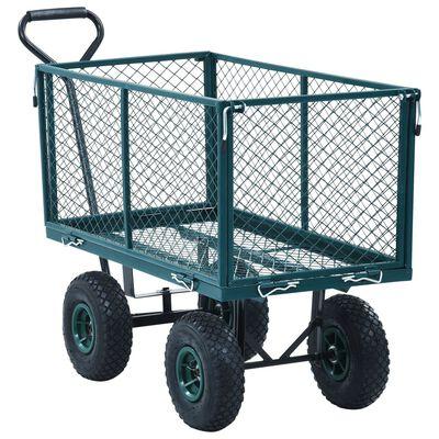 vidaXL Garden Hand Trolley Green 771.6 lbs