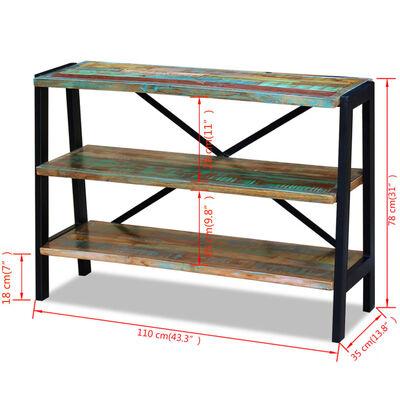 vidaXL Sideboard 3 Shelves Solid Reclaimed Wood