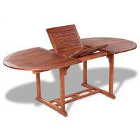 """vidaXL Garden Table 78.7""""x39.3""""x29.1"""" Solid Acacia Wood"""