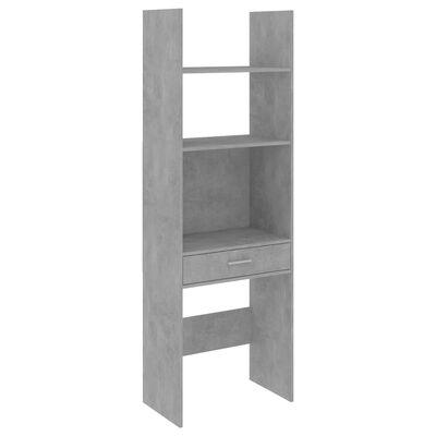"vidaXL Book Cabinet Concrete Gray 23.6""x13.8""x70.9"" Chipboard"