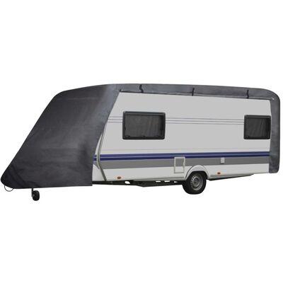 vidaXL Caravan Cover Gray L