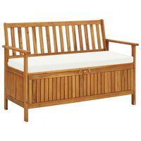 "vidaXL Garden Storage Bench Solid Acacia Wood 47.2""x24.8""x33.1"""
