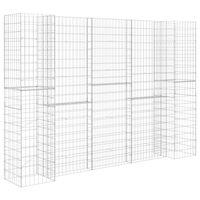 "vidaXL H-Shaped Gabion Planter Steel Wire 223.6""x15.7""x78.7"""