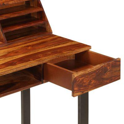 """vidaXL Desk 43.3""""x19.7""""x37"""" Solid Sheesham Wood and Steel"""