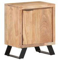 """vidaXL Bedside Cabinet 15.7""""x11.8""""x19.7"""" Solid Acacia Wood with Live Edges"""