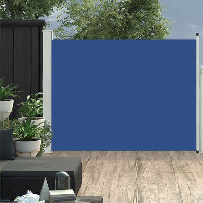 "vidaXL Patio Retractable Side Awning 66.9""x196.9"" Blue"