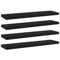 """vidaXL Bookshelf Boards 4 pcs Black 15.7""""x3.9""""x0.6"""" Chipboard"""