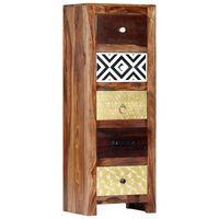 "vidaXL Side Cabinet 15.7""x11.8""x43.3"" Solid Sheesham Wood"