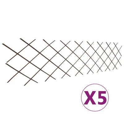 "vidaXL Willow Trellis Fences 5 pcs 70.9""x23.6"""