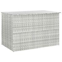 "vidaXL Garden Storage Box Light Gray 59.1""x39.4""x39.4"" Poly Rattan"