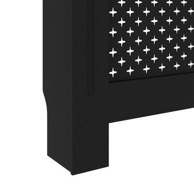 "vidaXL Radiator Cover Black 59.8""x17.5""x31.9"" MDF"