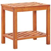 """vidaXL Side Table Solid Acacia Wood 17.7""""x13""""x17.7"""""""
