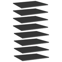 "vidaXL Bookshelf Boards 8 pcs High Gloss Black 23.6""x19.7""x0.6"" Chipboard"