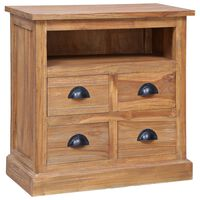 "vidaXL Side Cabinet 23.6""x11.8""x23.6"" Solid Teak"