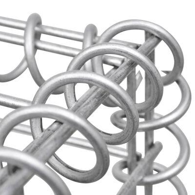 """vidaXL Gabion Basket Galvanised Steel 118.1""""x11.8""""x39.4"""""""