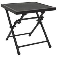"vidaXL Folding Table Mesh 15""x15""x15"" Steel Anthracite"