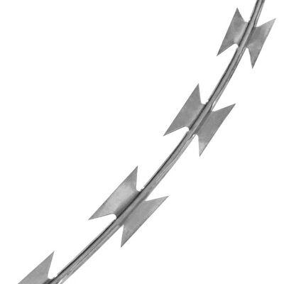 BTO-22 Clipped Concertina NATO Razor Wire Galvanized Steel 492'